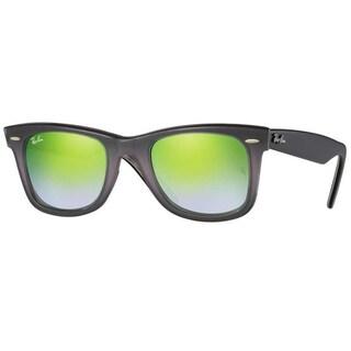 Ray-Ban RB2140 11994J Original Wayfarer Floral Grey/Black Frame Green Gradient Flash 50mm Lens Sunglasses