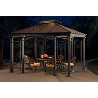 Sunjoy Branson Gazebo  Faux Copper Top, 12'x10'