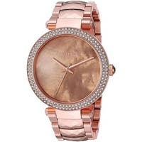 Michael Kors Women's MK6426 'Parker' Crystal Rose-Tone Stainless Steel Watch - Gold