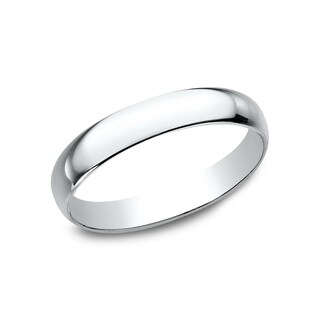 18k White Gold 3-millimeter Wedding Band - 18K White Gold