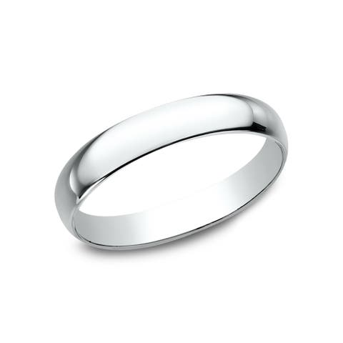 18k 3mm White Gold Traditional Wedding Band - 18K White Gold - 18K White Gold