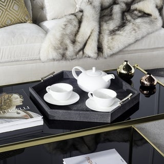Safavieh Couture High Line Collection Barry Black Faux Stingray Tray