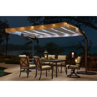 Sunjoy Lenora Solar Lighted Mobile Shade
