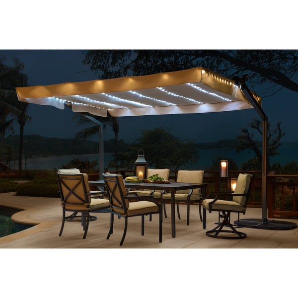 Sunjoy Lenora Solar Lighted Mobile Shade