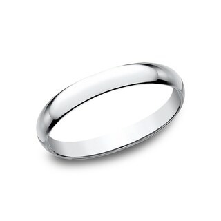 18k White Gold 2.5mm Wedding Band - 18K White Gold
