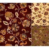 "Persian Rugs Floral Contemporary Polypropylene Area Rug - 5'2"" x 7'2"""