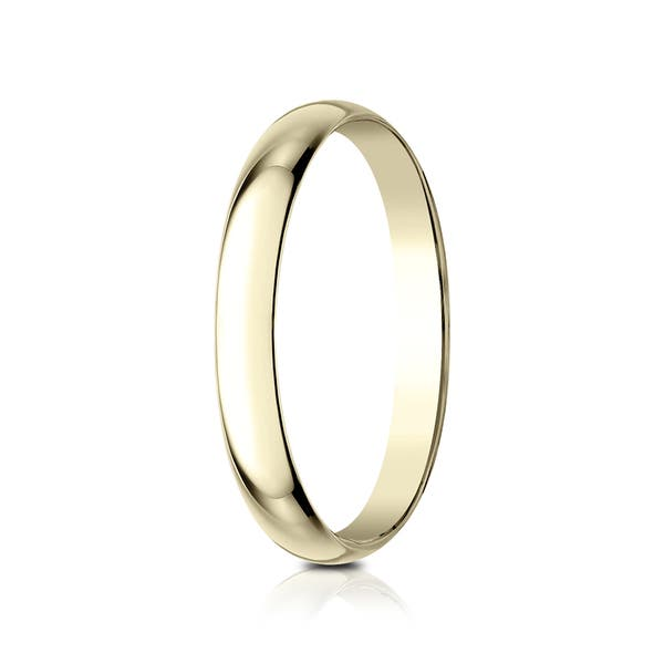 Lightweight 2mm-8mm Width Genuine 18 CT Yellow Gold Traditional Court Wedding Band Gift Boxed Depth ~1.1mm-1.2mm Wedding Ring J-Z Sizes