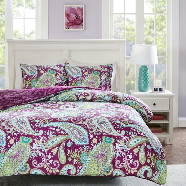Intelligent Design Kayla Printed Reversible 3-piece Comforter Set