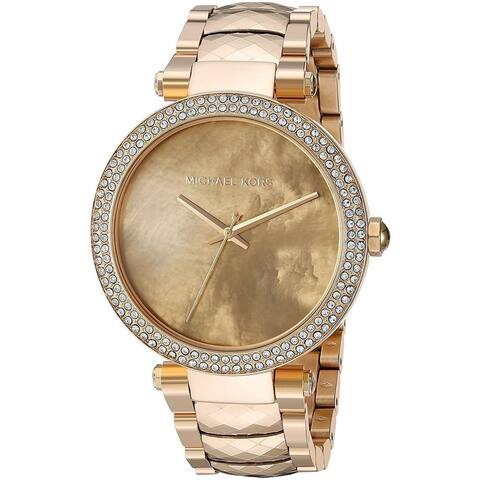 Michael Kors Women's MK6425 'Parker' Crystal Gold-Tone Stainless Steel Watch