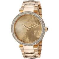 Michael Kors Women's MK6425 'Parker' Crystal Gold-Tone Stainless Steel Watch