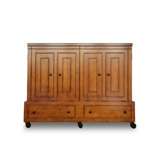 Queen Size Mobile Murphy Bed in Chestnut Finish