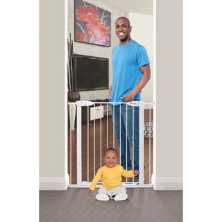 Link to Dreambaby Boston Xtra-Tall Auto-Close Gate - White Similar Items in Child Safety