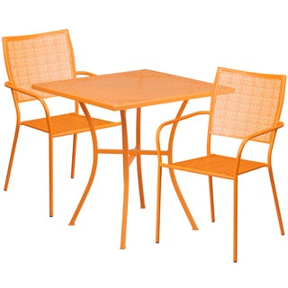 Karako 3-piece Artistic Designed Orange Bistro Set