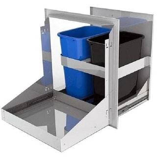 Alfresco 26-Inch Dual Roll-Out Trash & Recycle Bin