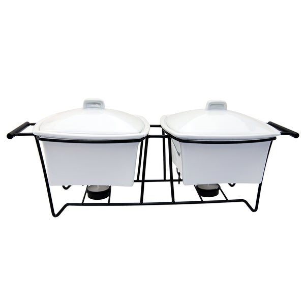 Le Chef Ceramic Serving Trays (Set of 2)