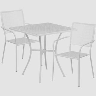 Karako 3-piece Artistic Designed White Bistro Set