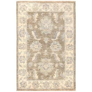 Herat Oriental Afghan Hand-knotted Vegetable Dye Oushak Wool Rug (2'1 x 3'2)