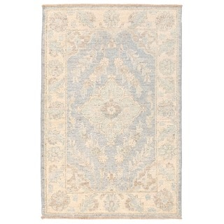 Herat Oriental Afghan Hand-knotted Vegetable Dye Oushak Wool Rug (2'2 x 3'4)