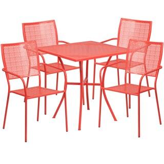 Karako 5-piece Artistic Designed Red Bistro Set