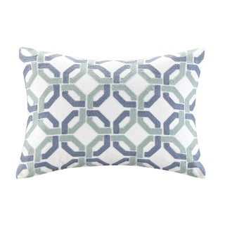 Madison Park Signature Concord Cotton Embroidered Oblong Pillow 2-Option Color