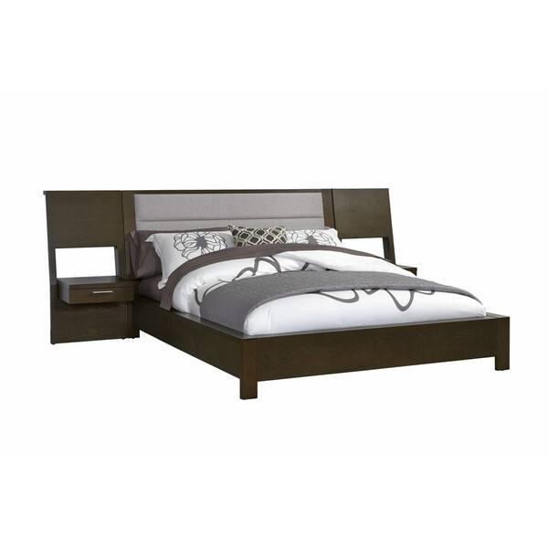 Hudson Grey Upholstered Platform Bed