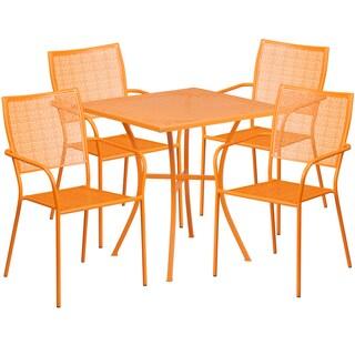 Karako 5-piece Artistic Designed Orange Bistro Set