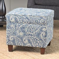 Palm Canyon Palmas Square Storage Ottoman Wood Legs