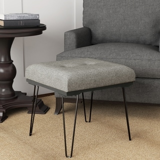 HomePop Mid Mod Square Stool Metal Hairpin Leg