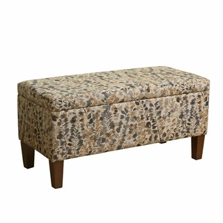 HomePop Bailey Storage Bench with Wood Legs
