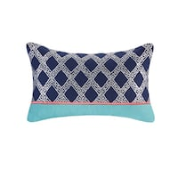 Josie by Natori Mix and Match Multi-cotton Oblong Pillow with Embroidery