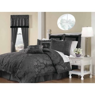 NY Soho Home Lorenzo Grey 8-Piece Queen Comforter Set