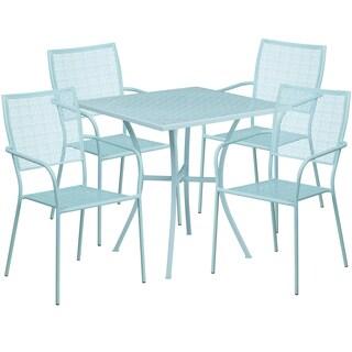 Karako 5-piece Artistic Designed Blue Bistro Set