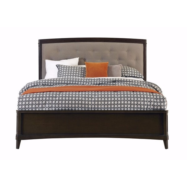 juliette tufted tan upholstered panel bed - free shipping today