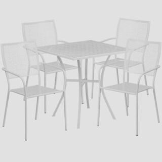 Karako 5-piece Artistic Designed White Bistro Set