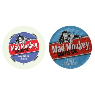 Mad Monkey Coffee Pack, Rich, Fearless and Lively Flavors That Will Win Your Heart Instantly, 96 Count
