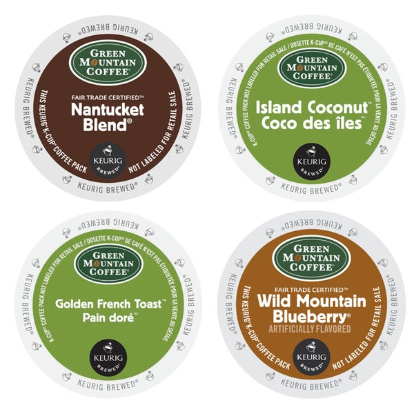Green Mountain Special Flavored Collection of Coffees, 4 Unforgettable Flavors to Sweep You off Your Feet, 96 Count