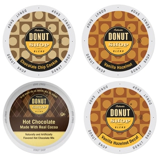 Donut Shop Flavored Coffee Pack, a Deliciously Lip-Smacking Combination of Coffees and Desserts, 96 Count