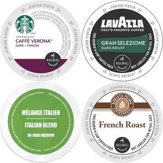 Premium Variety Pack, Dark Roast Extra Bold Keurig 2.0 K-Cup Coffee Sampler (96 Count)