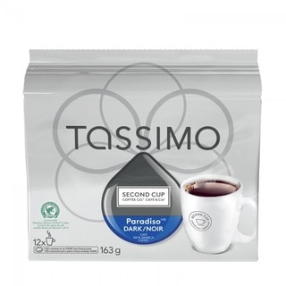 Second Cup Paradiso Dark Coffee T-Discs for Tassimo Hot Beverage System (12 Count)