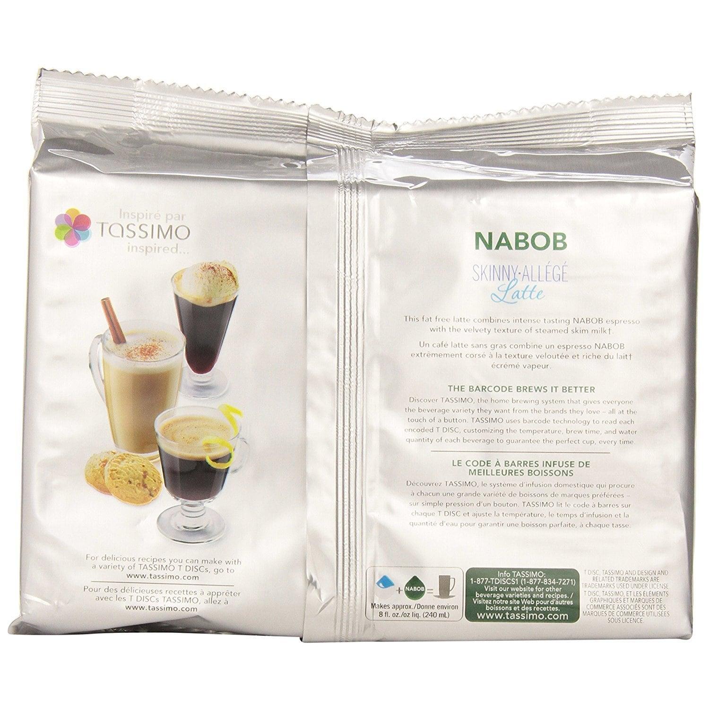 Nabob Skinny Latte T-Discs for Tassimo Hot Beverage System