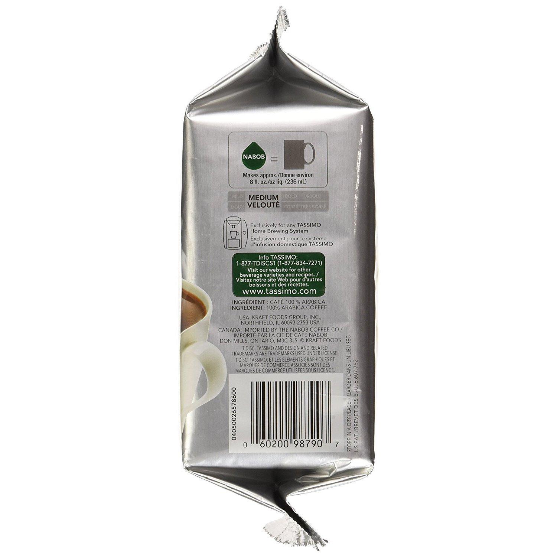 Kraft Nabob 100% Colombian Coffee T-Discs for Tassimo Hot...