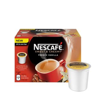 Nescafe Sweet and Creamy French Vanilla, RealCup Portion Pack for Keurig Brewers
