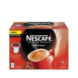 Nescafe Sweet & Creamy Original Coffee, RealCup Portion Pack for Keurig Brewers