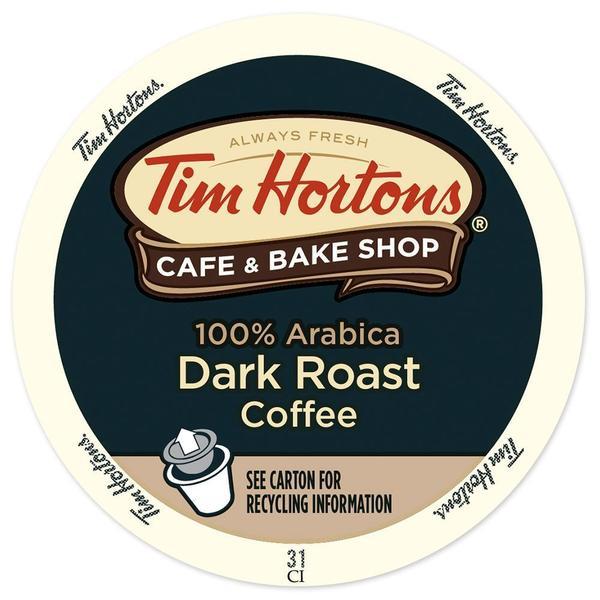 Tim Hortons Dark Roast, RealCup Portion Pack For Keurig Brewers