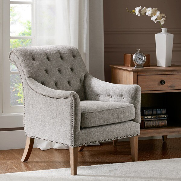 Shop Madison Park Valley Grey Multi Accent Chair Free