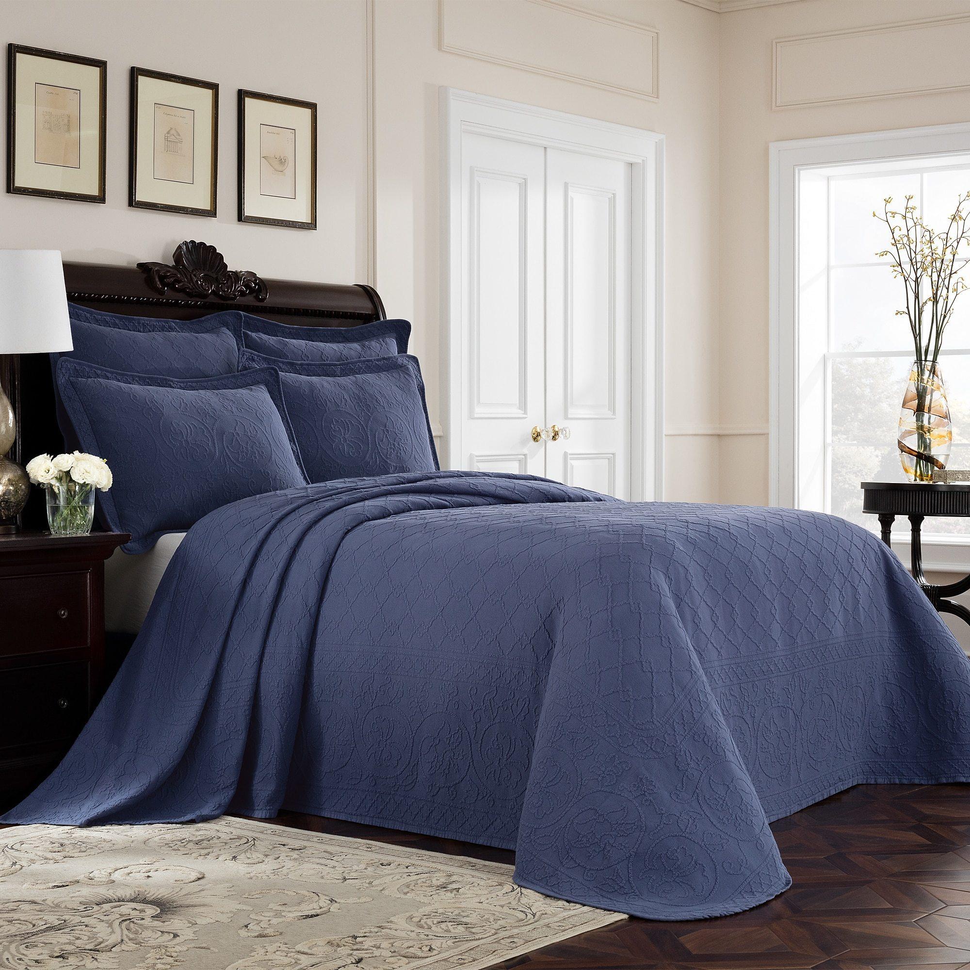 Royal Heritage Williamsburg Richmond Cotton Matelasse Bed...