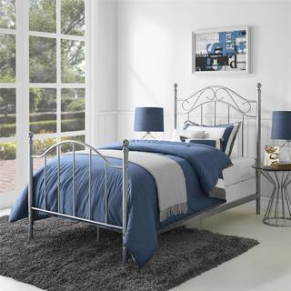 Dorel Living Pewter Taupe Twin Metal Bed