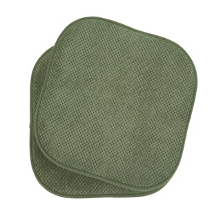 Memory Foam Dining Kitchen Chair Pad Cushion (Set of 2) (Option: Green)