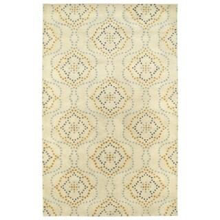 Hand-Tufted Lola Mosaic Beige Cobblestone Wool Rug (3'6 x 5'6)