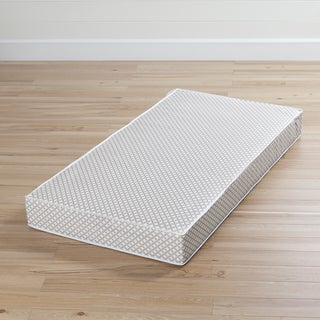 South Shore Somea Gray and White Baby Crib & Toddler Mattress